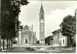 1972 SAN MATTEO DELLE CHIAVICHE (MN) Chiesa Parrocchiale *Cartolina FG VG