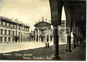 1953 MANTOVA Piazza Sordello, Palazzo Vescovile e Duomo *Cartolina FG VG