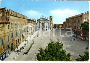 1960 MANTOVA Piazza Sordello ANIMATA *Cartolina FG VG