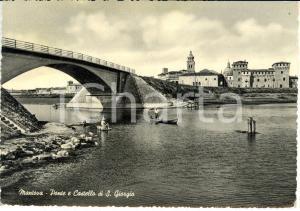 1954 MANTOVA Ponte e Castello di S. Giorgio *Cartolina FG VG