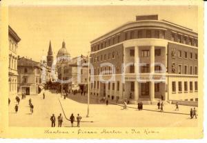 1940 ca MANTOVA Piazza Martini e Via Roma *Cartolina FG VG