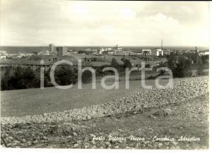 1956 PORTO POTENZA PICENA (MC) Ceramica Adriatica *Cartolina postale FG VG