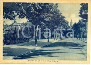 1943 MACERATA Viale Umberto I *Cartolina postale FG VG