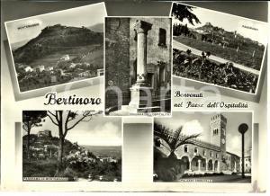 1950 ca BERTINORO (FC) Vedutine con Colonna dell'OSPITALITA' *Cartolina FG NV