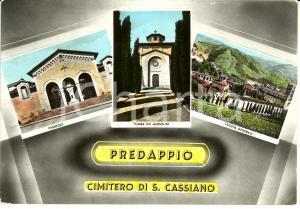1950 ca PREDAPPIO (FC) Vedutine cimitero con tomba MUSSOLINI *Cartolina FG NV