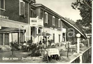 1957 GATTEO (FC) Frazione GATTEO MARE Veduta PENSIONE RUBICONE *Cartolina FG VG
