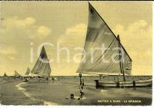 1953 GATTEO (FC) Frazione GATTEO MARE Veduta spiaggia con barche a vela *FG VG