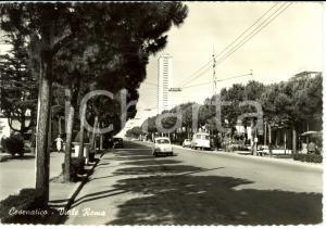 1960 CESENATICO (FC) Veduta di Viale ROMA con GRATTACIELO *Cartolina FG VG