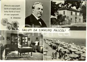 1967 SAN MAURO PASCOLI (FC) Vedutine con ritratto e casa di GIOVANNI PASCOLI *VG