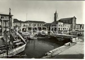 1960 CESENATICO (FC) Veduta PORTO CANALE con barche ormeggiate *Cartolina FG VG