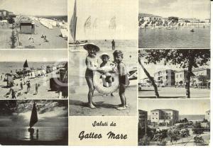 1957 GATTEO MARE (FC) Vedutine con spiaggia e PINA BAR *FG VG