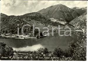 1956 SCANNO (AQ) Veduta del lago, luogo di riposo *Cartolina FG VG