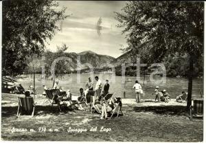 1966 SCANNO (AQ) Veduta della spiaggia del lago *Cartolina ANIMATA FG VG
