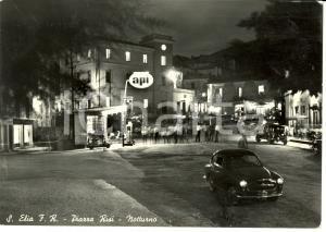1965 SANT'ELIA FIUMERAPIDO (FR) Notturno piazza RISI con distributore API *FG VG
