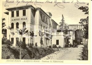 1953 FIUGGI (FR) Veduta dell'Albergo REALE *Autografo ing. Virginio CAVAGLIA'