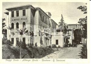1964 FIUGGI (FR) Veduta dell'Albergo REALE Direttore TERRINONI *Cartolina FG VG