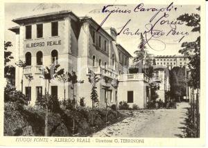 1953 FIUGGI (FR) Veduta dell'Albergo REALE *Autografo Virginio CAVAGLIA'
