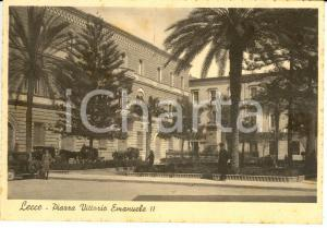 1939 LECCE Piazza VITTORIO EMANUELE III *Cartolina FG NV