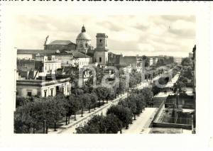 1940 ca LECCE Viale GALLIPOLI con cupola Basilica SANTA CROCE *Cartolina FG NV