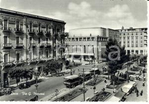 1959 LECCE Veduta di viale Guglielmo MARCONI Camionette *Cartolina FG VG