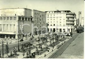 1960 ca LECCE Scorcio di viale GUGLIELMO MARCONI Cartellone LIQUIGAS *Cartolina