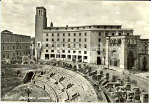 1962 LECCE Istituto Nazionale Assicurazioni e Anfiteatro Romano *Cartolina FG VG