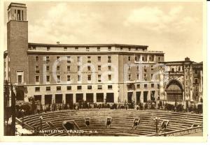 1952 LECCE Istituto Nazionale Assicurazioni e Anfiteatro Romano Cartolina FG VG