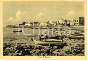 1951 CASTRIGNANO DEL CAPO (LE) Pescatori su spiaggia SANTA MARIA DI LEUCA *FG VG
