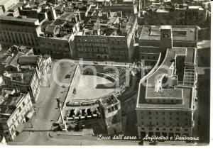 1958 LECCE Veduta aerea dell'Anfiteatro Romano *Cartolina FG VG