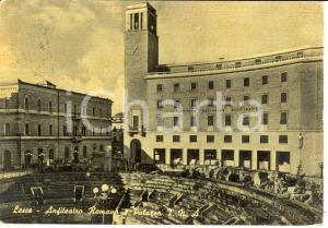 1957 LECCE Istituto Nazionale Assicurazioni Anfiteatro Romano *Cartolina FG VG