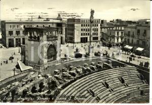 1955 LECCE Piazza SANT'ORONZO e Palazzo del Seggio *Cartolina FG VG