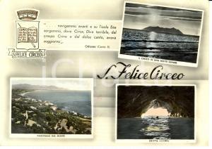 1955 SAN FELICE CIRCEO (LT) Vedutine con grotta AZZURRA *Cartolina FG VG