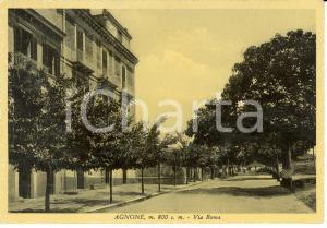 1935 ca AGNONE (IS) Veduta di via ROMA  *Cartolina FG NV