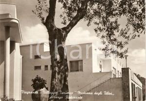 1955 VIAGRANDE (CT) Villaggio turistico MADONNA DEGLI ULIVI *Cartolina FG VG