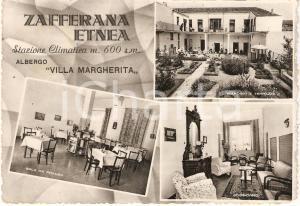 1954 ZAFFERANA ETNEA (CT) Vedutine Albergo VILLA MARGHERITA *Cartolina FG VG