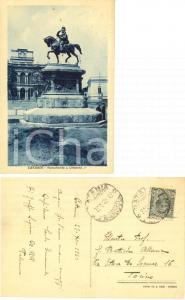1923 CATANIA Monumento a Umberto I° *Autografo col. Santo EMANUELE Carabinieri