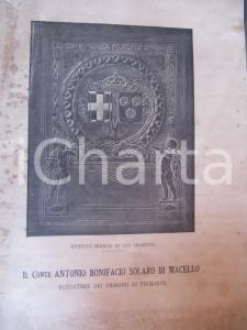 1928 Ernesto BIANCO DI SAN SECONDO Antonio SOLARO DI MACELLO Dragoni PIEMONTE