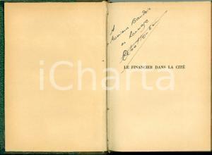 1926 Octave HOMBERG Financier dans la cité Dedica AUTOGRAFA a Paul BAUDOIN