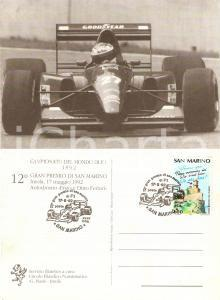 1992 IMOLA 12° Gran Premio SAN MARINO Ferrari F92 A FORMULA 1 *Cartolina FG