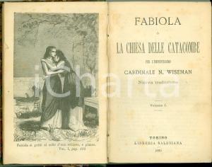 1880 Nicholas WISEMAN Fabiola Chiesa delle Catacombe Romanzo storico