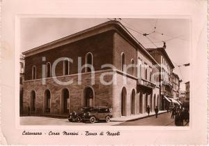1950 CATANZARO Sede BANCO DI NAPOLI Corso Mazzini ANIMATA *Cartolina FG VG
