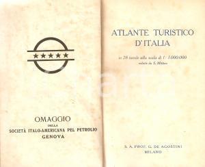 1950 ca DE AGOSTINI Atlante tutistico Omaggio Società ITALO-AMERICANA PETROLIO
