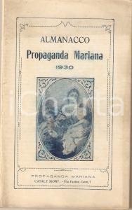 1930 CASALE MONFERRATO (AL) Almanacco PROPAGANDA MARIANA *Illustrato