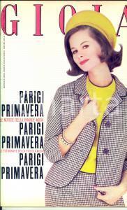 1962 GIOIA n° 6 Alta moda PARIGI PRIMAVERA *Rivista femminile VINTAGE