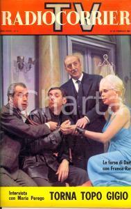 1962 TV RADIOCORRIERE n° 8 Farse DARIO FO e FRANCA RAME *Rivista VINTAGE