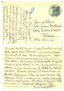 1959 TRENTO Pio GUAZZETTI a Gianni SANTUCCIO 'Ricordi Varese?' *Autografo FG VG
