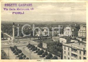 1941 FORLI' (FC) Panorama generale e PIAZZA della VITTORIA *Cartolina FG VG