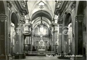 1950 ca MAGLIE (LE) Interno della CATTEDRALE *Cartolina postale FG NV