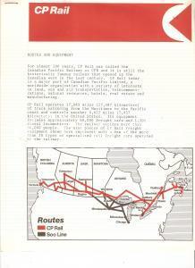 1975 ca CANADA - CP RAIL Canadian Pacific *Fascicolo illustrativo