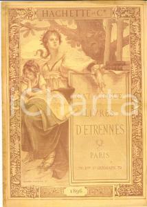 1896 PARIS Catalogue des livres etrenne *Editeur HACHETTE & Cie